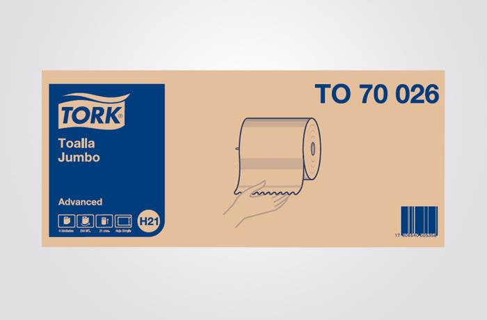 Tork Advanced Soft Toalha Rolo 6/150M Folha Dupla TAD