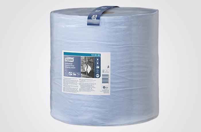 TORK INDUSTRIAL HD WIPING PAPER JUMBO ROLL – AZUL – (36,9 cm x 34 cm)