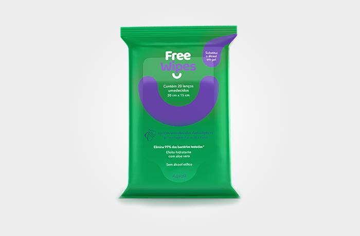 Free Wipes – Lenços Umedecidos Antissépticos